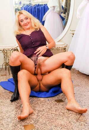 Handsome woman's crumpet hardly has an intercourse middle-aged mother and cums on her face