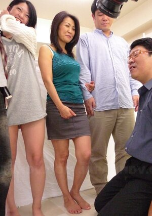 During sex party Japanese Eager mom finds quiet spot to finger own hirsute peach