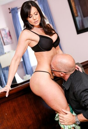 Brunette with huge round tits and plus husband plus don't complain about sexual life